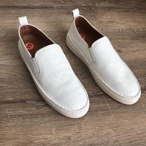 NEW Frye brea slip on white leather sneaker 10